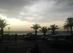 Nuages Hammamet Coucher de soleil sur le golf de Hammamet