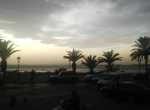 Coucher de soleil sur le golf de Hammamet