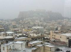 Neige Athènes Neige à athènes