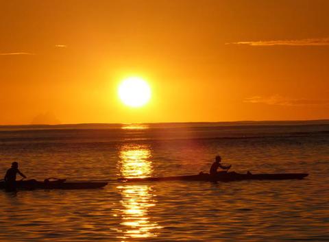 COUCHER DE SOLEIL(HUAHINE)