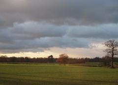 Ciel à la sortie de Cambridge