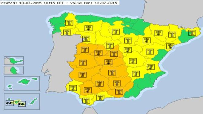 Actualité Météo : Espagne : 45°C, vers une canicule historique