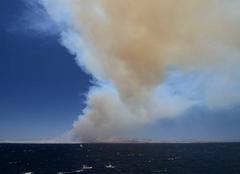 Incendie banlieue d'Athènes
