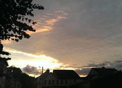 Ciel Autricourt 21570 Couché de soleil