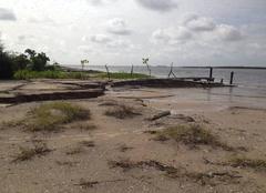Coast erosion in dionewar, saloum islands