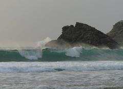 Les vagues de la plage de Donnant