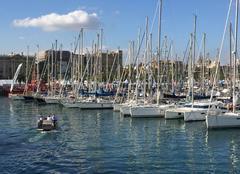 Beau temps sur le salon nautique de barcelone