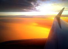 Ciel Catane 95100 Levé du soleil en altitude