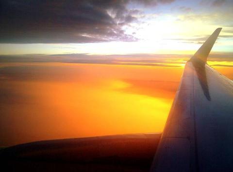 Lev� du soleil en altitude