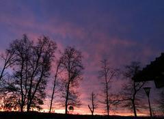 Ciel violet à st pierre du mont