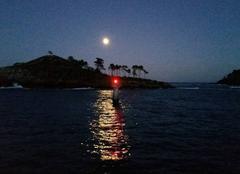 Ciel Lekeitio 48280 Anochecer con luna llena