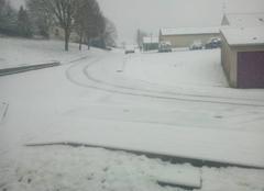 Sill� sous la neige