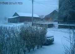 Neige Léglise Louftémont, village de l'entité de Léglise