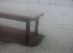 Neige ce matin dans la meuse