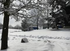 Neige sur les hauteurs de lausanne