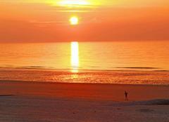 Mer Ostende Coucher de soleil