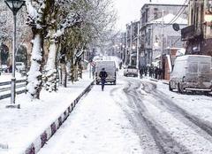 Tiaret, une rue du centre ville.