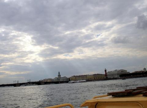 Lever de soleil sur le lac Ladoga