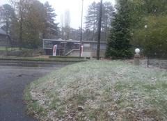 Neige Oupeye Neige d'avril en Belgique
