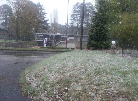 Neige d'avril en Belgique