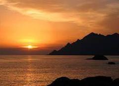 Coucher de solier magnifique en Corse