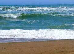 Mer agitée en Catalogne