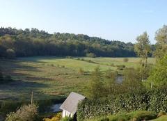 Soleil matinal sur la vallée de la Charentonne au mois de mai