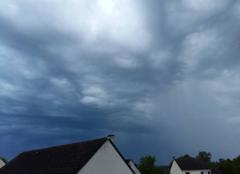 Orage ciel menaçant