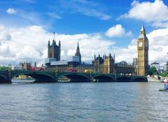Soleil et nuages sur Londres