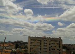 Arc en ciel dans les nuages