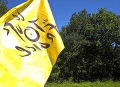 Tour de france le drapeau flotte