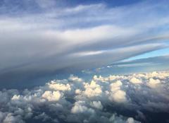 Nuages d'orage vus d'avion