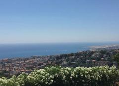 Visibilit� moyenne depuis les hauteurs de Nice
