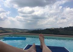San Casciano beau et chaud (même avec des petits nuages d'orage)