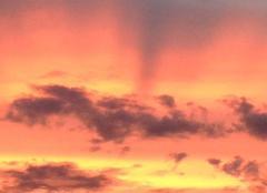 Coucher de soleil au Coudray Montceaux