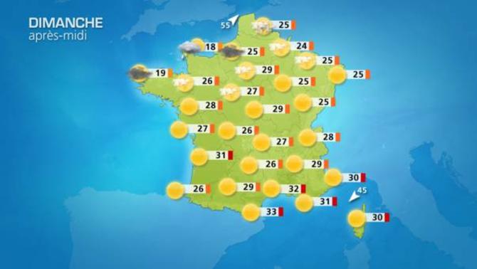 Actualit m t o aujourd 39 hui m t o estivale sauf en - Meteo orleans demain ...