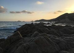 Joli couché de soleil sur les îles sanguinaires