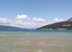 Vent sur lac