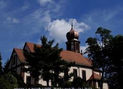Ciel Wingen-sur-Moder 67290 Nuage en panache sur clocher à bulbe