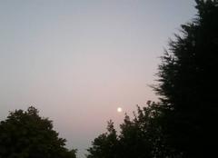 Beau debut de soirée avec la lune sur la Thièrache....