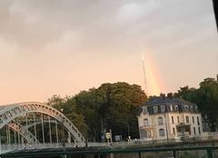 D�but d'arc en ciel apr�s la pluie en fin d'apr�s-midi