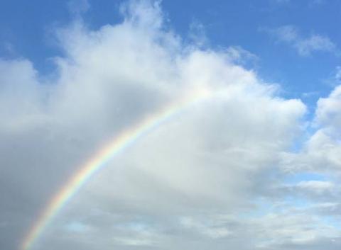 Arc en ciel ce matin