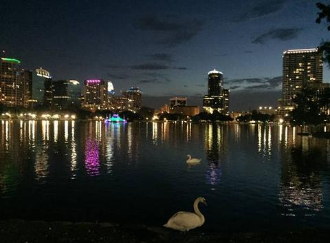 Nuit au lake Eola