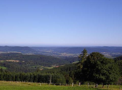 Les Vosges sous un ciel limpide...