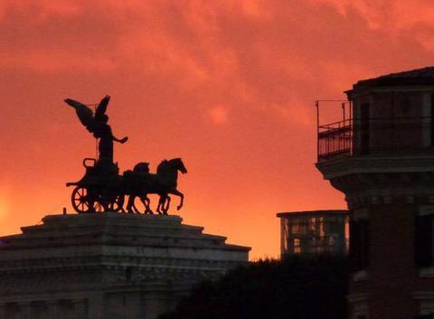 Soir d'orage sur le Capitole ROME