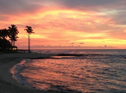 Coucher de soleil à Kailua-Kona (Hawaii)