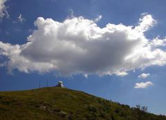 Premier cumulus sur le massif vosgien depuis trois jours consecutifs.