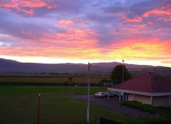 La nui approche coucher de soleil