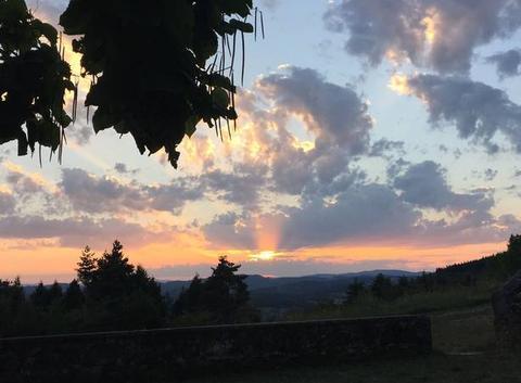 Coucher de soleil sur Vernoux