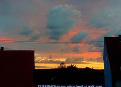 Ciel du matin bien color�, il est 06h34